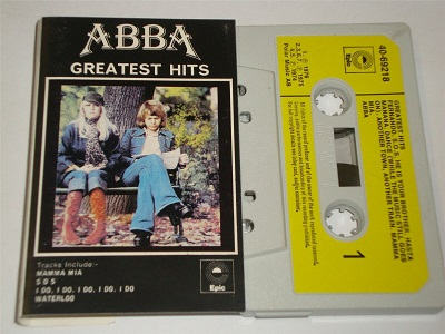 Abba - Greatest Hits EPC4069218 Cassette Tape White Yellow Paper Label
