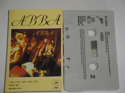 Abba - Self Titled Cassette Tape EPIC EPC 4032052 Grey Shell Black Text