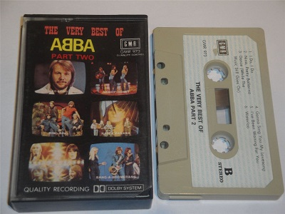Abba - The Very Best of Part 2 Cassette Tape GMR 973 Paper Label