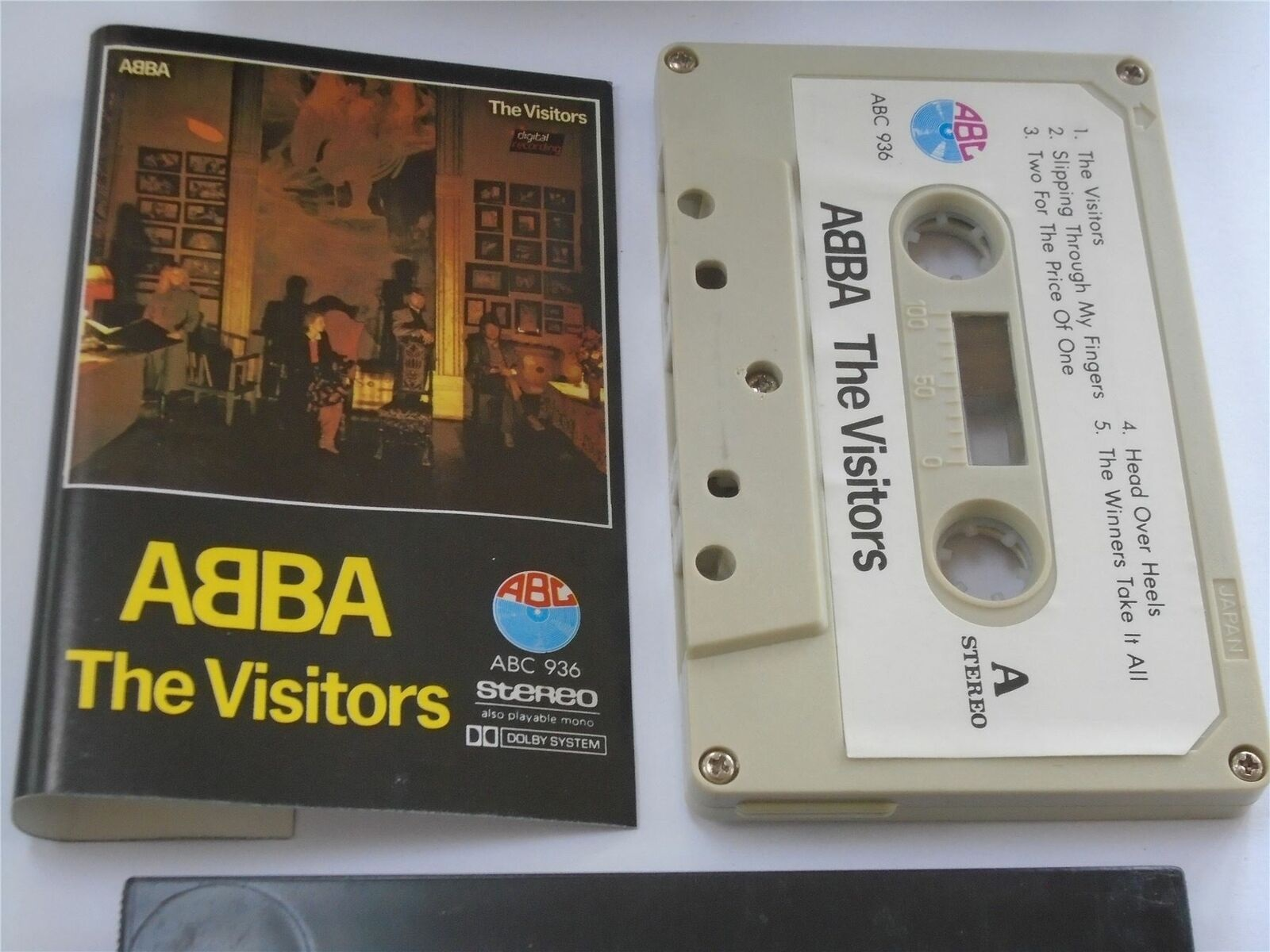 Abba - The Visitors Cassette Tape ABC Stereo 936 Import White Paper Label