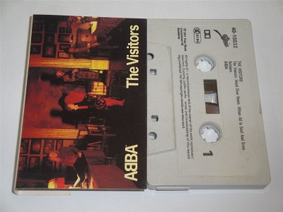 Abba - The Visitors - EPC4010032 Cassette Tape White Shell Black Text