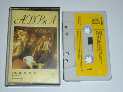 Abba - Self Titled Cassette Tape White Shell Yellow Label EPC4080835
