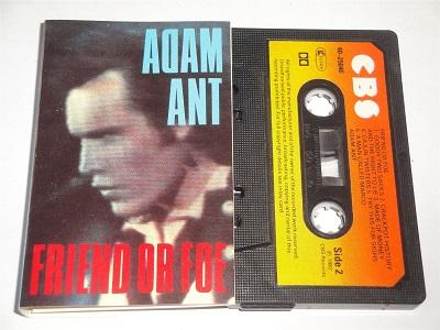 ADAM ANT - Friend Or Foe - EQ120 Cassette CBS Black Shell Orange Paper Label