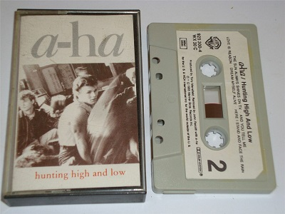 A-HA - Hunting High and Low Cassette Tape Aha Grey Shell Paper Label WX30C