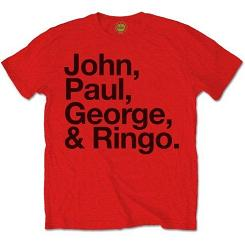 Beatles Official T Shirts Tees