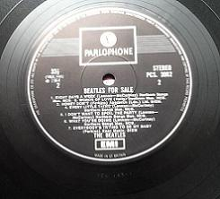 The Beatles For Sale Fourth Pressing Vinyl LP. UK. PCS 3062. 1970.