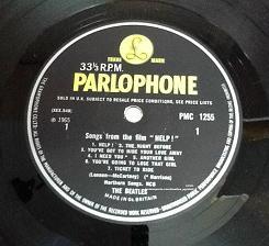 The Beatles Help! First Pressing Vinyl LP. UK. PMC 1255. 1965.