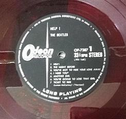 The Beatles Help Japanese Red Vinyl LP.