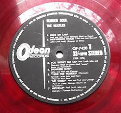 The Beatles Rubber Soul Japanese Red Vinyl LP.