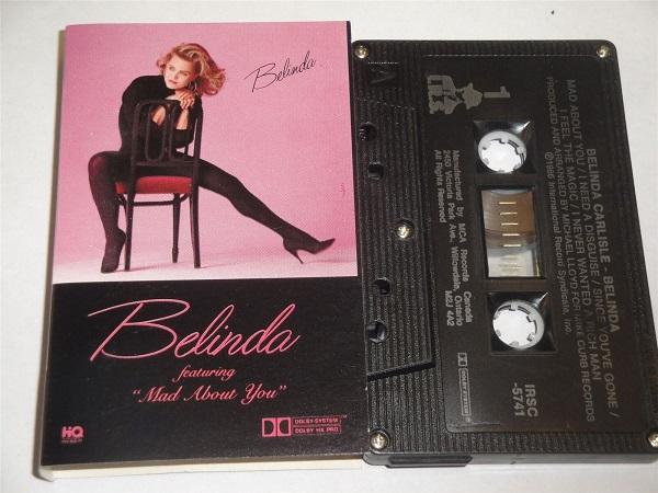 Belinda Carlisle - Belinda - IRSC5741 Cassette Tape Black Shell Silver Text