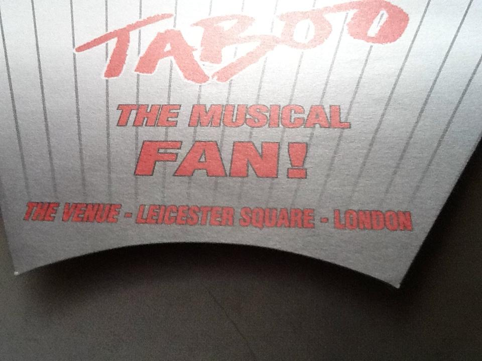 Boy George Culture Club Taboo theatre fan collectable
