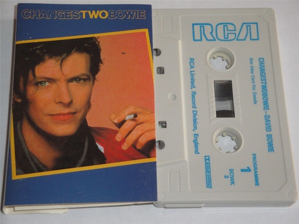 David Bowie - Changes Two - Cassette Tape RCA BOWK3 White Tape with Blue Text