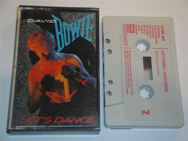 David Bowie - Let's Dance Cassette Tape RCA White Shell Red Text TCAML3029