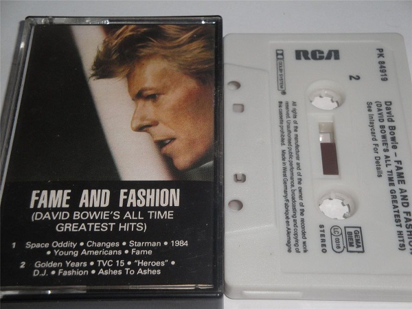 David Bowie - Fame and Fashion All Time Greatest Hits Cassette Tape Black Shell