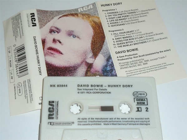 David Bowie - Hunky Dory Cassette Tape RCA West Germany NK83844