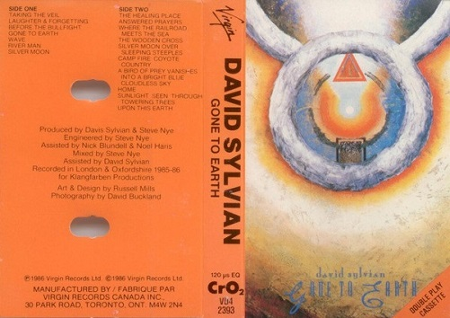 David Sylvian Gone To Earth Canada Cassette