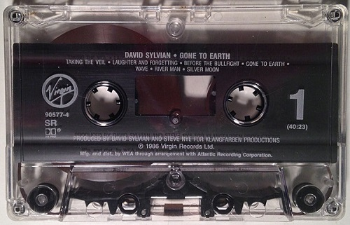 David Sylvian Gone To Earth US Cassette