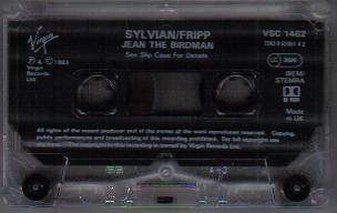 David Sylvian & Robert Fripp Jean The Birdman UK & Europe Cassette