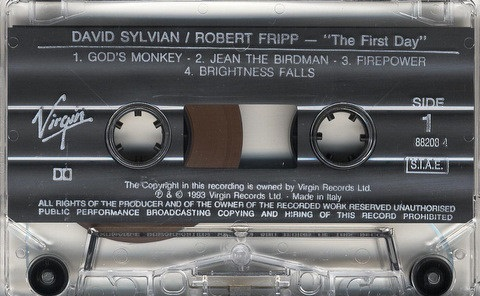 David Sylvian & Robert Fripp The First Day Italy Cassette