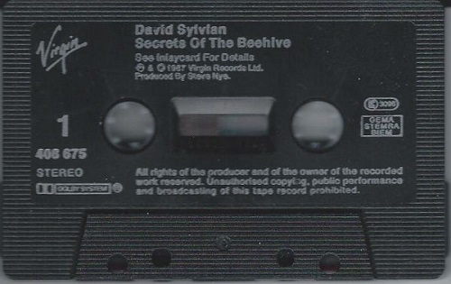 David Sylvian Secrets Of The Beehive Europe Cassette