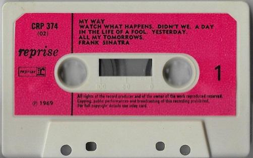 Frank Sinatra My Way UK Cassette