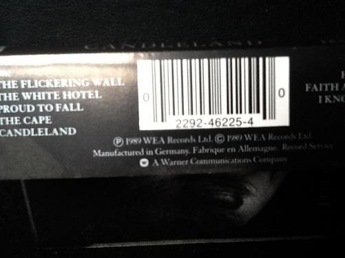 Ian McCulloch Candleland Cassette, Album Cassette