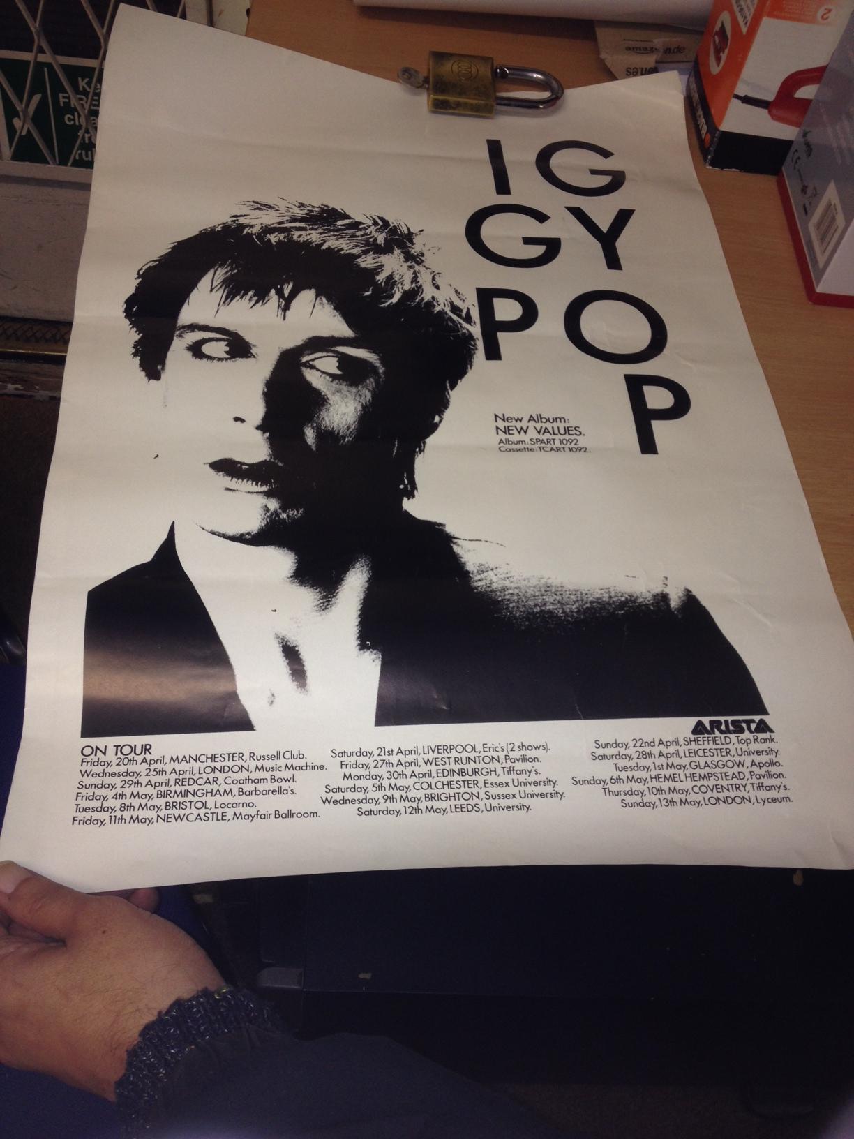 Iggy Pop New Values poster