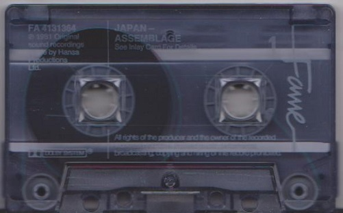 Japan Assemblage Cassette, Compilation, Reissue, Blue Translucent UK Cassette