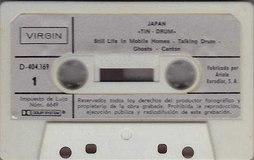 Japan Tin Drum Spain Cassette
