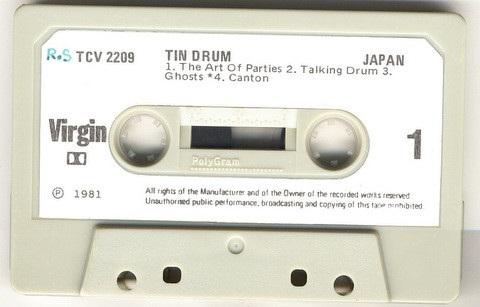 Japan Tin Drum New Zealand Cassette