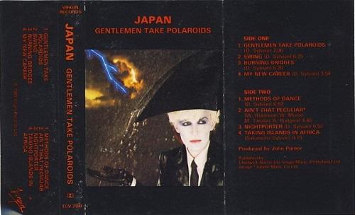 Japan Gentlemen Take Polaroids Running UK Cassette