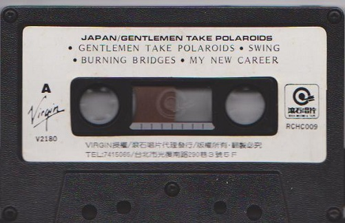Japan Gentlemen Take Polaroids Taiwan Cassette