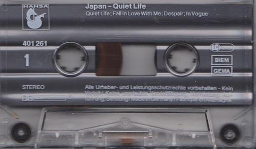 Japan Quiet Life Germany Cassette