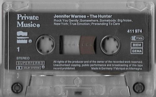 Jennifer Warnes The Hunter Europe Cassette