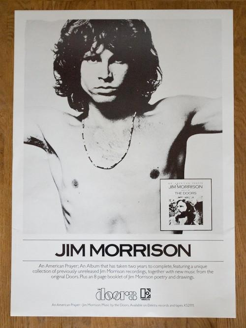 Jim Morrison American Prayer poster