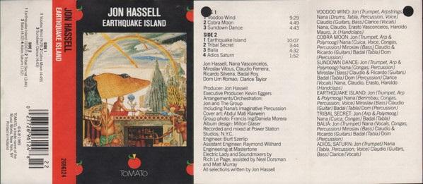 Jon Hassell Earthquake Island NL Cassette
