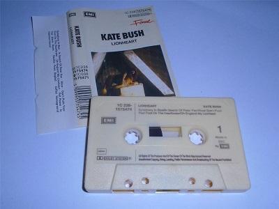 Kate Bush - Lionheart Cassette Tape TCEMC3223 Cream Shell German Release