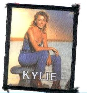 kylie minogue sunset printed patch