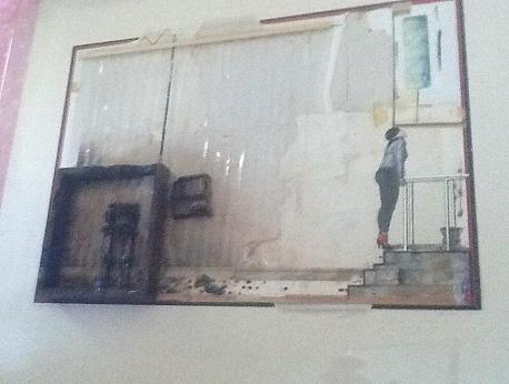 Russell Mills Third Uncle Mixed Media Painting (1980)