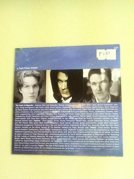 David Sylvian Everything And Nothing UK 4 trk Promo CD
