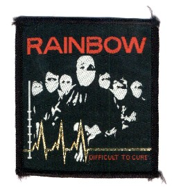 Rainbow Difficult to Cure Rect Woven Patch